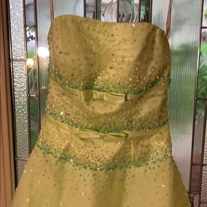 Tiffany Designs Dresses - Tiffany Designs Ball Gown chartreuse